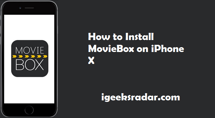 Latest MovieBox on iPhone X