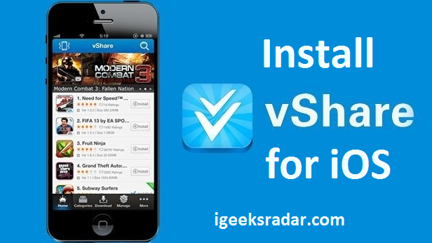 install vshare for iOS
