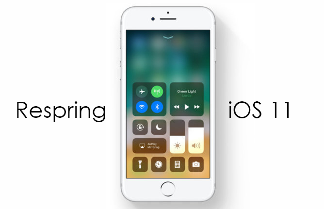 Respring your iOS 11 easily