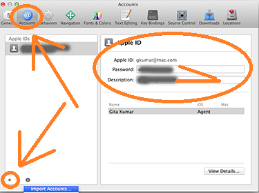 Add Apple Account to Xcode