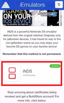 Download iNDS Emulator for iOS 11
