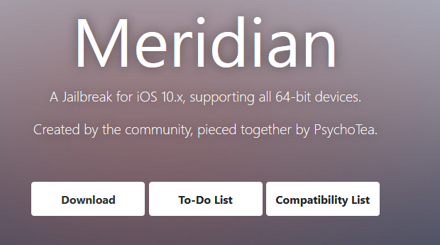 Meridian Jailbreak for iOS