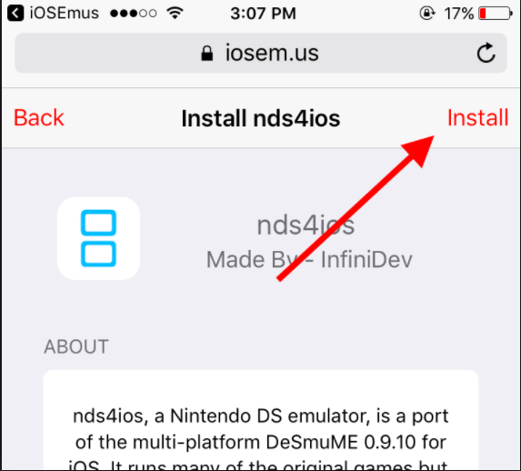 install nds4ios profile iphone and ipad