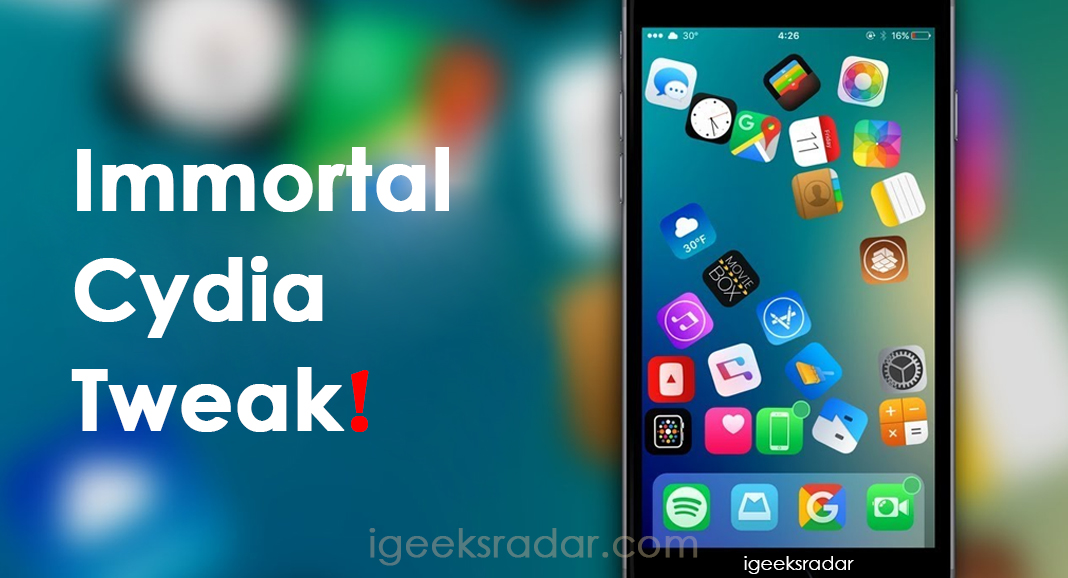 Immortal Cydia Tweak iOS