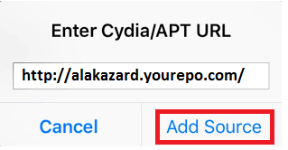 Add alakazard yourepo to Cydia