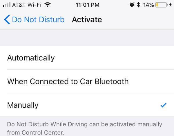 Do Not Disturb Manually Automatically Reply iPhone