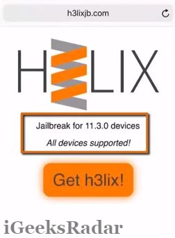 iOS 11 3 Jailbreak[H3lixJB Update]-How to Jailbreak iOS 11 3 Tutorial