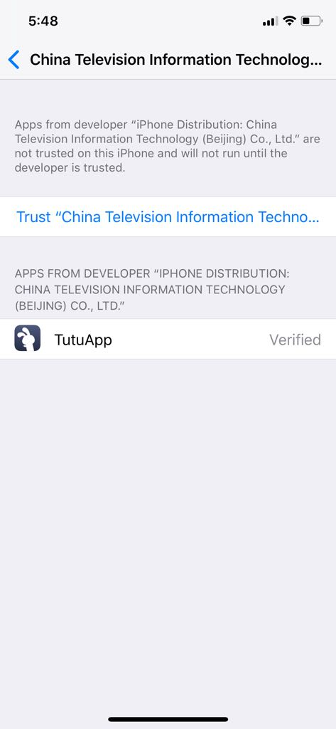 TuTuApp Revoke Fixed