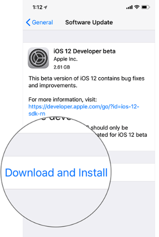 Tap on Download and Install
