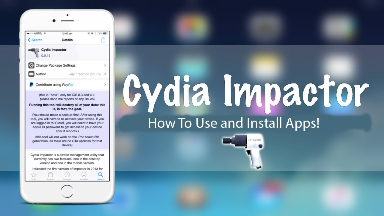 How to Install App on iPhone using Cydia Impactor