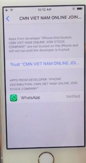 GBWhatsApp Trust on iOS