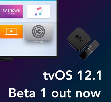 tvOS 12.1 Beta Update on iOS