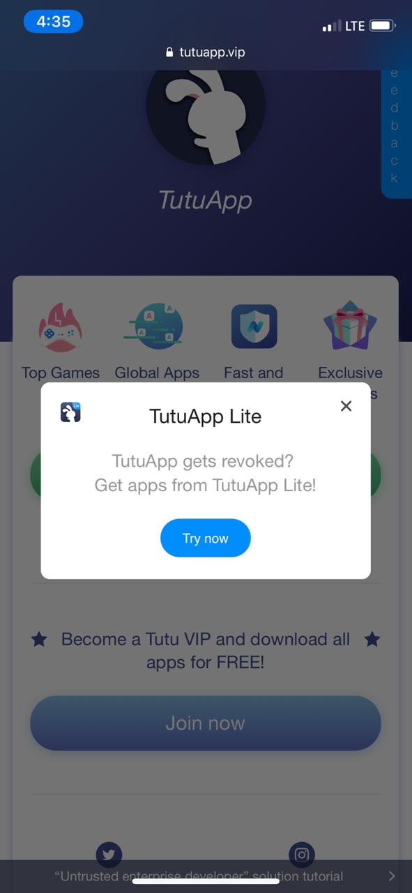Try TuTuApp Lite on iOS