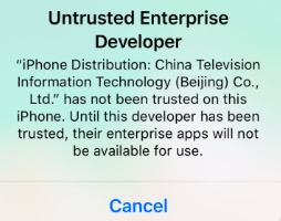 Untrusted Enterprise Developer Error Fix