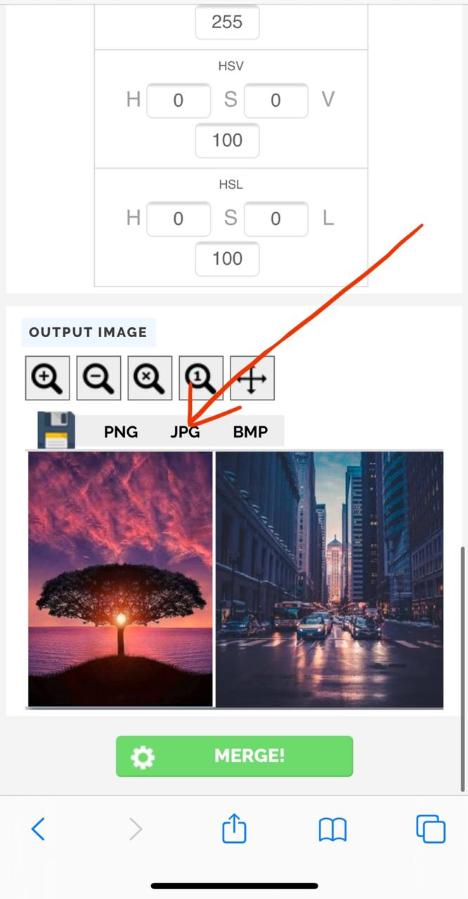 Image Merging Tool for iPhone