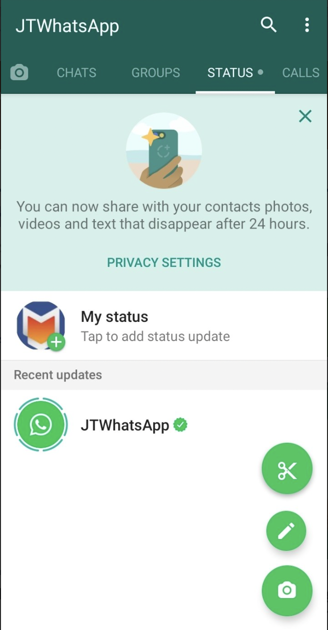 JTWhatsApp MOD Features on Android